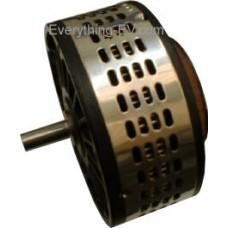 12V-48V 130mm 2kW/3kW lightweight pancake PM motor